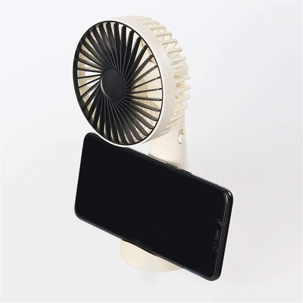 Color : White XIAOF-FEN Mini Handheld Fan Small Portable Charging Portable Desktop Personal Fan Phone Holder Office Dormitory USB Fan