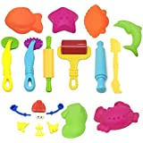 Popmall Play Dough Tools, Assortments Large-Size Pizza Dough Tools Modeling Dough Tools for Kids and Children, Large, Colorful and Non-Toxic