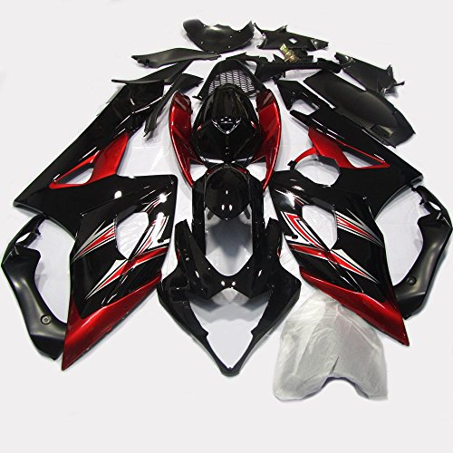 One Industries Suzuki Graphics (ABS Injection Molding - Special Design Red & Black Painted with Graphic Fairing Kit for Suzuki GSXR 1000 K5 (2005-2006))