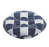 Japanese Style Linen Yoga Bolster Tatami Floor Round Cushion(Lattice,17'')