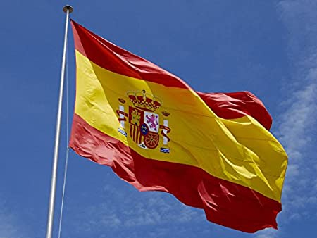 España Marca 3 X 5 FT / 2 X 3 FT. bandera de Espania. La bandera española 90 x 150 cm / 60 X90 CM bandera España: Amazon.es: Hogar