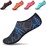 JACKSHIBO Men Women Quick-Dry Water Skin Shoes Aqua Socks for Water Sports Swim Surf Yoga Exercice Beach,Blue M