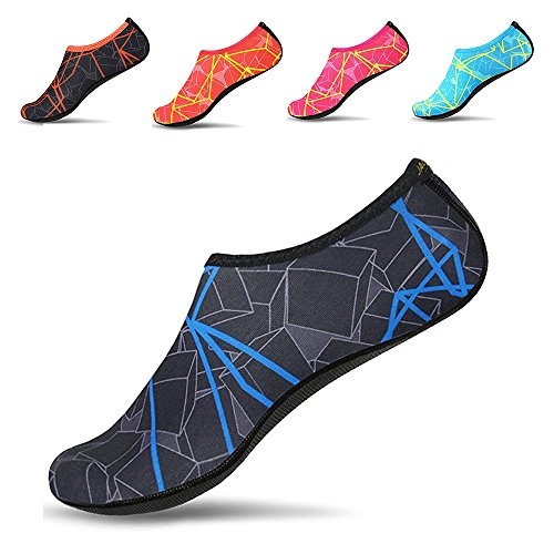 Women Men Yoga Exercice Socks Shoes dry Beach Swim Skin Water Blue Quick Jackshibo Aqua Sports Surf H57dwfxx