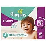 Pampers Cruisers Disposable Baby Diapers Size 5, Giant Pack, 90 Count