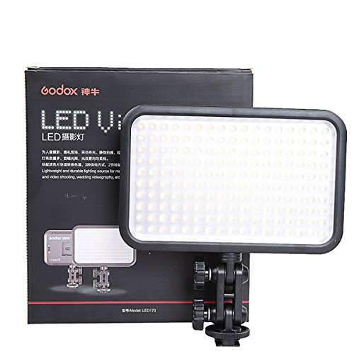 Godox LED170 Video Lamp Light For Nikon Canon Pentax Wedding Videography Photo journalistic Video Shooting from Godox
