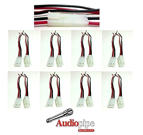 (10 Pack 14 GA AWG Gauge 2 Pin Male Female Quick Disconnect Polarized Wire Auto )