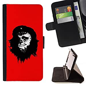 DEVIL CASE - FOR Apple Iphone 6 - Funny Rebel Chebacca - Style PU Leather Case Wallet Flip Stand Flap Closure Cover