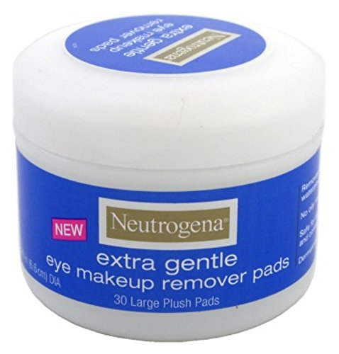 Neutrogena Eye Extra Gentle Makeup Remover Pads 30'S Jar (3 Pack) by Neutrogena