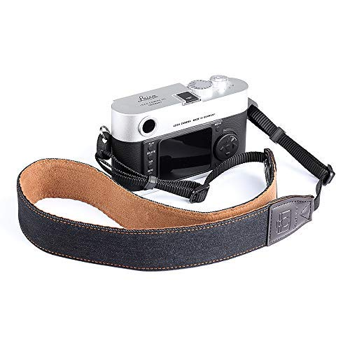 Camera Strap,CAFELE Web Celebrity Flaunt Wealth Gorgeous Soft Denim and Leather for All DSLR Camera Nikon Canon Sony Pentax Olympus Camera [並行輸入品]   B07V1G5W9R