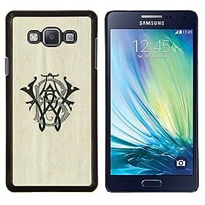 LECELL--Funda protectora / Cubierta / Piel For Samsung Galaxy A7 A7000 -- letras iniciales wb marca caligrafía --
