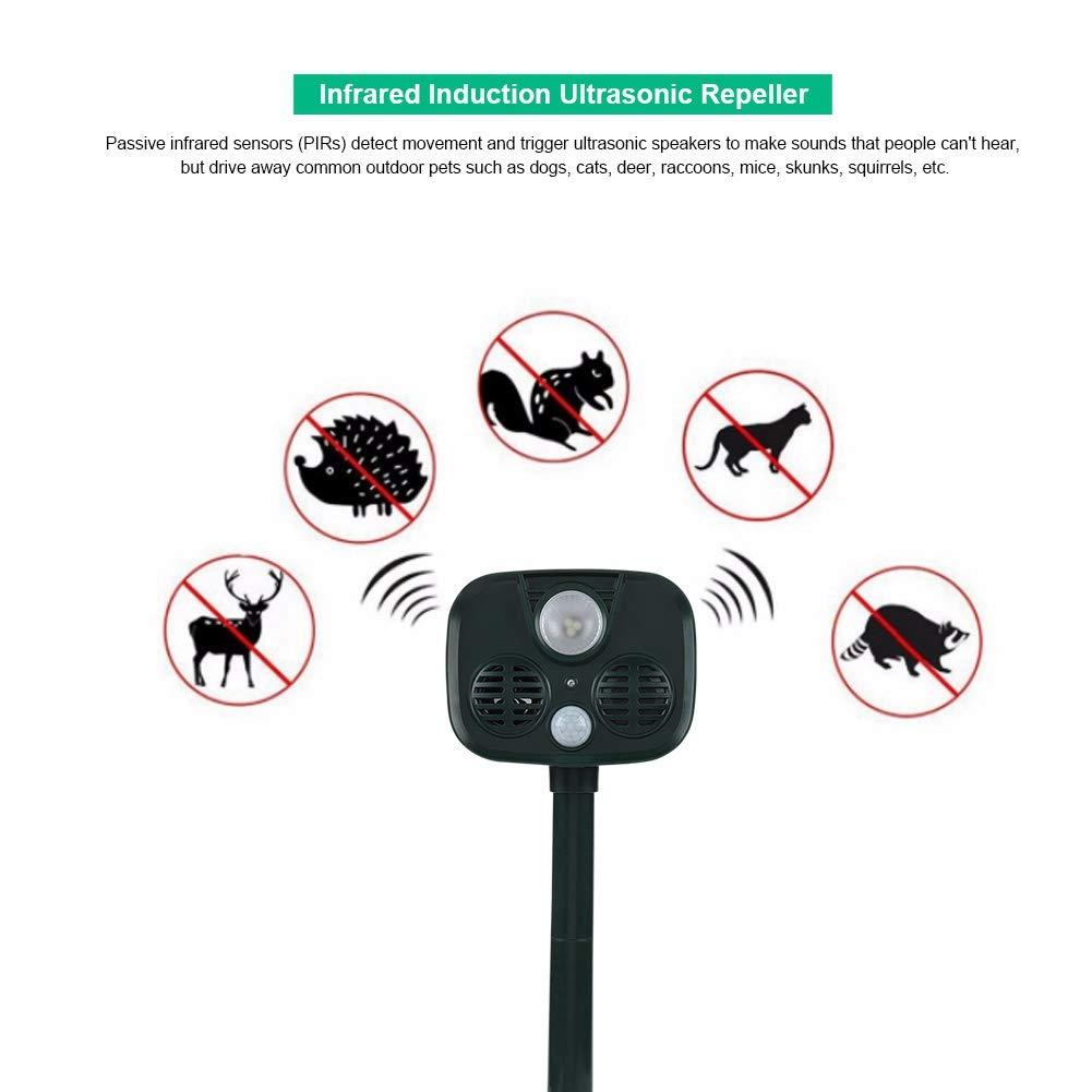 Yoidesu Alarma Antirrobo Antirrobo Portátil para Acampar al Aire Libre Solar y Móvil y Repelente Ultrasónico de Animales Antirrobo Sistema de Seguridad para ...