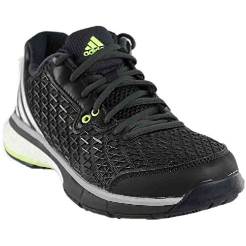 adidas Performance Women's Energy Volley Boost 2.0 W Shoe,Dark Grey/Tesime/Frozen Yellow,7 M US by adidas