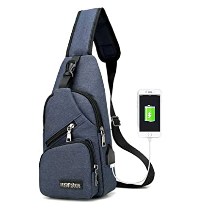 bd86ac6978af Image Unavailable. Image not available for. Color  Aolvo Sling Backpack Anti -Theft Canvas Bag