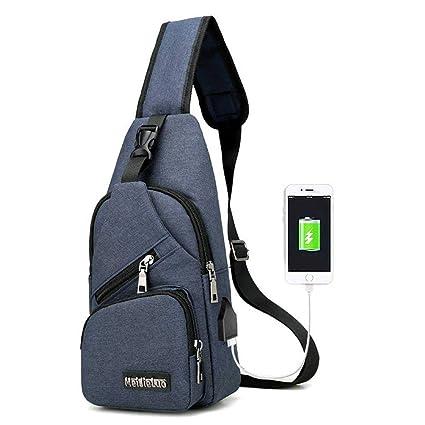 Amazon.com   Aolvo Sling Backpack Anti-Theft Canvas Bag cd1b4dda20fa1