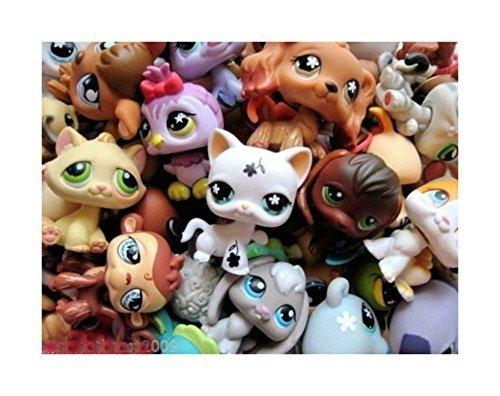 (Littlest Pet Shop LPS Lot Random Surprise Gift Grab Bag 7 Pets Dog Cat Mixed EUC)