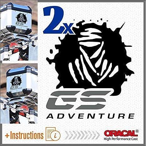 2pcs Dakar GS Adventure Aufkleber R 1200 1150 F 800 650 F700 GS A R1200GS R1200 Motorrad Touratech Motorcycle Givi Trekker Outback Aluminium Panniers SEITENKOFFER Top CASE Black//Blue