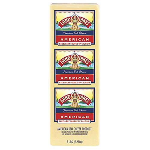 Land O Lakes American White Deli Process Cheese Loaf, 5 Pound -- 6 per case. by Land O Lakes