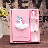 YOUTH UNION Unicorn Diary Journal Notebook Pen Set with 1PC Unicorn Sticker-Lovely Birthday Unicorn Gifts For girls (Unicorn 1)