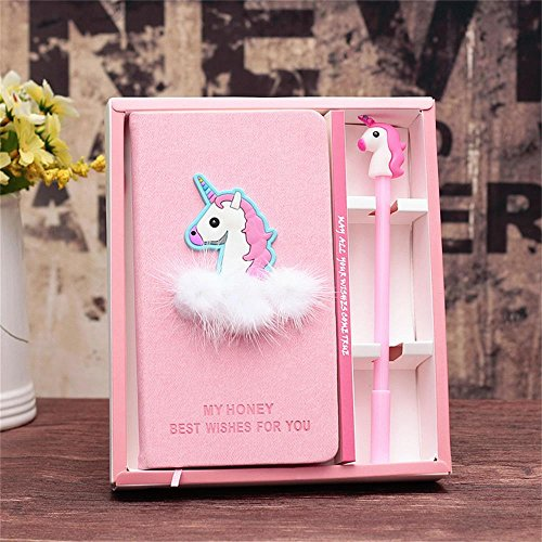 YOUTH UNION Unicorn Diary Journal Notebook Pen Set with 1PC Unicorn Sticker-Lovely Birthday Unicorn Gifts For girls (Unicorn 1) by YOUTH UNION