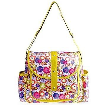 Fashion Tote bolsa de pañales, Flores