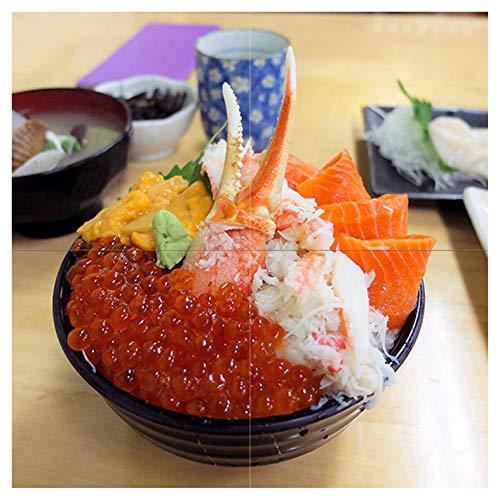 Comida Japonesa Alimentos Caviar Pinza para cangrejo Copa Plate Ensalada Mural de Azulejos baño cocina pared Backsplash...