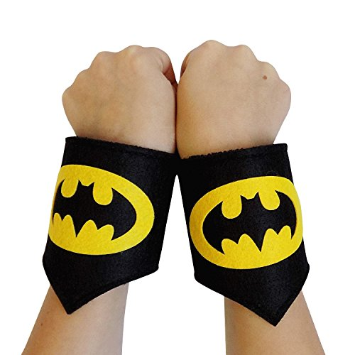 So Sydney Superhero or Princess WRIST BANDS Kids Childrens Toddler, Boy, Girl (Batman - Black & (Batman Costume Sydney)