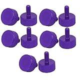 eDealMax Ordinateur PC Carte graphique M3.5x8mm plat moletées Vis pouce 10pcs Violet