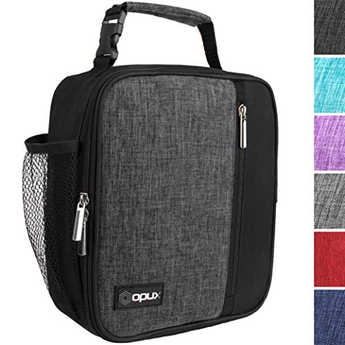 OPUX Insulated Lunch Bag for Adult Men, Women, Professionals   Soft Reusable Lunch Box for Work, School, Office   Compact Lunch Pail Cooler   Fits 6 Cans (Charcoal) (Best Lunch Bags For Professionals)