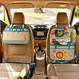 Yartar シートバックポケット 車用 収納袋 ドライブポケット 折り畳式 手提げ可能 ベビー 赤ちゃん かわいい ブルー
