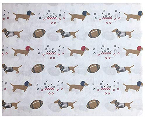 - All Star Arena Full Size Sheet Set Cotton 4pc Football Dogs Dachsunds with Helmets and Referee Shirts