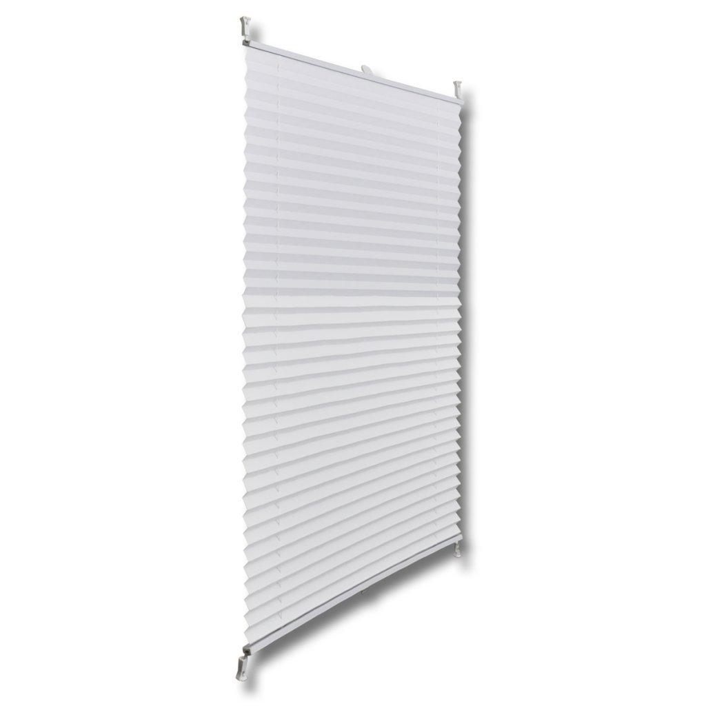 Festnight Store pliss/é en Blanc Enrouleur Rideau Occultant Protection Solaire sans Per/çage