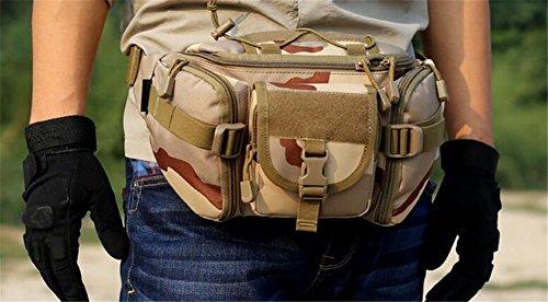 tellw Outdoor Military Camo Tactical Pocket Multifunktions Taschen Nylon Schulter der Freizeit Paket