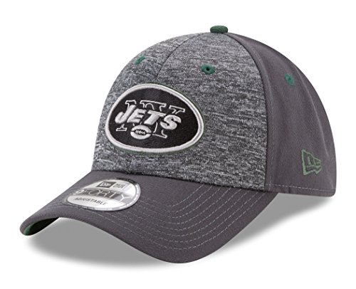 NFL New York Jets Adult Men The League Shadow 2 9FORTY Adjustable Cap, One Size, Graphite -