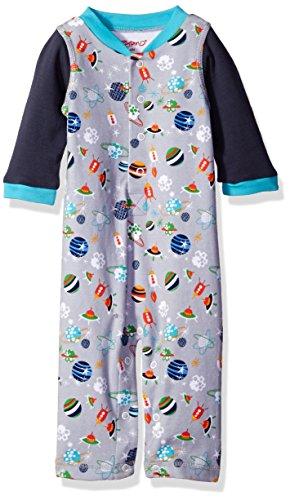 Zutano Baby Printed Long Sleeve Play Romper, Space Kiddet, 18 Months
