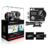 Photo : AKASO Brave 4 4K 20MP WiFi Action Camera Ultra HD with EIS 30m Underwater Waterproof Camera Remote Control 5X Zoom Underwater Camcorder with 2 Batteries and Helmet Accessories Kit