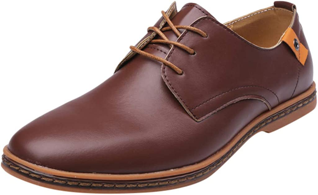 Alwayswin Herren Business Schuhe Klassischer Leder Schuhe Schn/ürschuhe Solid Lace Up Leder Hochzeitsschuhe Casual Britischen Stil Lederschuhe Herrenschuhe