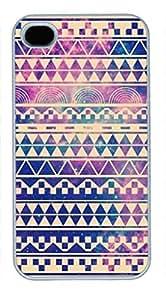 iPhone 4 4S Case, iCustomonline Aztec Background Back Case Cover for iPhone 4 4S Kimberly Kurzendoerfer