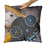 indoor cycle tachometer - Westlake Art Decorative Throw Pillow - Motorcycle Speedometer - Photography Home Decor Living Room - 20x20in