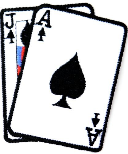 Poker blackjack Ace Jack Gambling Playing Card Casino Las Vegas Logo Jacket T shirt Patch Sew Iron on Embroidered Badge Sign Costum