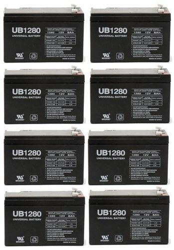UB1280 F2 12V 8Ah APC SmartUPS 1400RM 2200RM3U Battery - 8 Pack by Universal Power Group