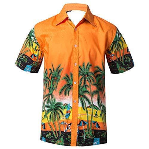 (Men's Casual Button Hawaii Fashion Print Beach Short Sleeve Quick Dry TopTronet Hawaii Shirt for)