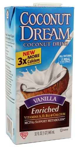 COCONUT DREAM Enriched Vanilla Coconut Drink, 32 fl. oz. (Pack of 12)