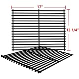 SHINESTAR Grill Grates for Nexgrill 720-0830H, Members Mark, Kenmore, Uniflame, 17'' Porcelain Steel Grates Replacement Parts Cooking Grids(17'' x 13-1/4'' Each, 2pcs)