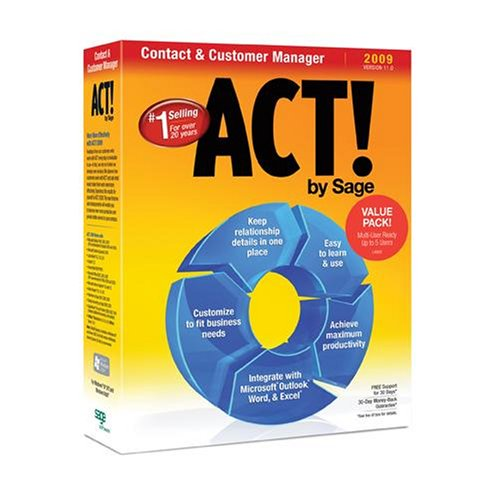 ACT! by Sage 2009 (11.0) Multi-User Value Pack [OLD VERSION]