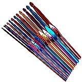Aluminum Crochet Hook Set (Set of 12) Multicolor