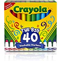 Crayola 40ct Ultra-Clean Washable Markers, Broad Line,...