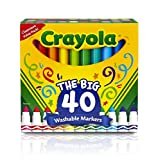 : Crayola 40ct Ultra-Clean Washable Markers, Broad Line, Easter Basket Stuffers