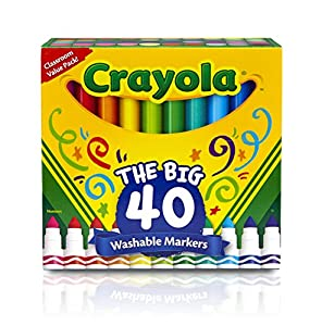 Crayola 40ct Ultra-Clean Washable Markers, Broad Line, Easter Basket Stuffers