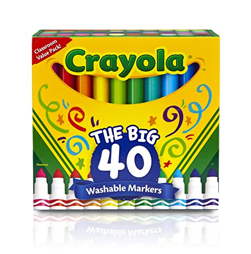 : Crayola 58-7858 40 ct Broad Line Ultra-Clean Washable Markers Toy