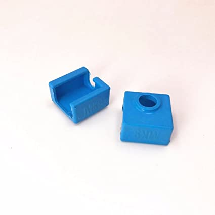 INCREWAY 3pcs Silicone Heater Block Cover High Temperature Resistance Silicone Socks for V6 E3D printer Extruder Hotend,Blue